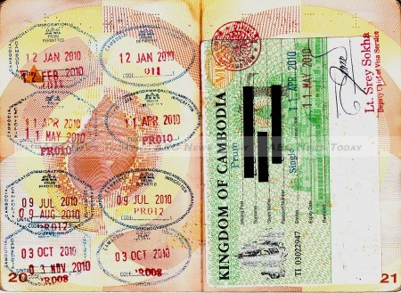 Thailand border crossings into Cambodia and at Kanchanaburi are refusing to issue visa exempt entry stamps such as those on the left page, particularly for border-hop/ out-in applicants