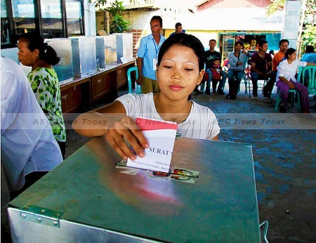 On December 9 simultaneous Indonesia local elections will be held for the first time