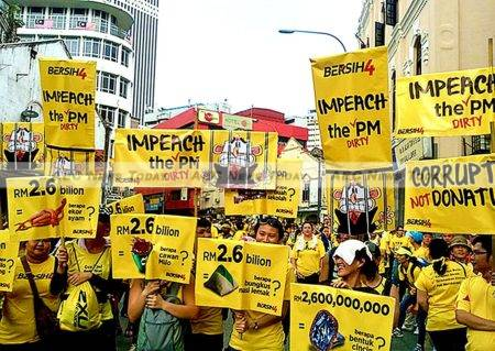 Bersih 4 demanded Najib step aside and hold free and fair elections. The main problem with levering Najib out of power though is that there is no obvious successor