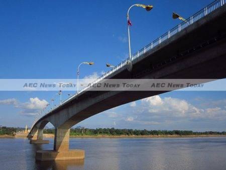 Connectivity to the region can aid prosperity – the Third Thai–Laos Friendship Bridge looking from Thakhek, Khammouane Province Laos to Nakhon Phanom, Thailand
