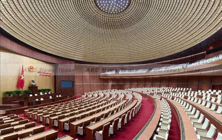 Inside of the National Assembly, Hanoi, Vietnam