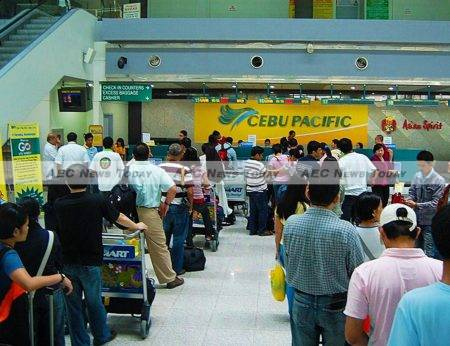 Philippines low cost carrier Cebu Pacific commands about 60 per cent of the Philippines aviation market
