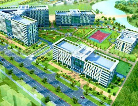 An artists impression of the Ho Chi Minh City University of Technology (HUTECH) Hi-Tech Institute Project at Saigon Hi-Tech Park (SHTP)