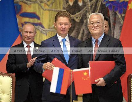 Russia and China signed a signed a $400 billion gas deal on May 21, 2014