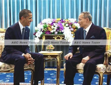 King Bhumibol Adulyadej met with US President Barack Obama in 2012