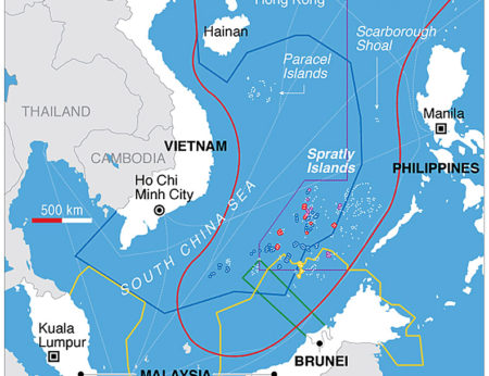 Overlapping claims in the South China Sea