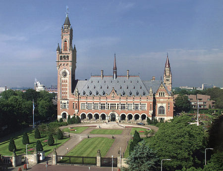 The Peace Palace in the Hague, Netherlands, home to the Permanent Court of International Arbitration. China has rejected the Court's ruling on the South China Sea dispute while offering to negotiate with the Philippines on the matter.