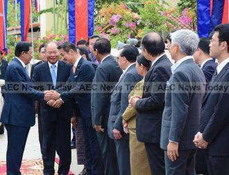 Japanese vice-minister for foreign affairs Kiyoshi Odawara at the opening of Sunrise Japan Hospital, Phnom Penh