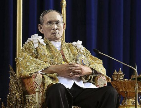 File photo: King Bhumibol Adulyadej on the occasion of his 86th birthday on December 5, 2013