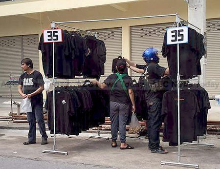 Traders have been warned of steep penalties for jacking prices on black clothing during the mourning period of HM King Bhumibol Adulyadej