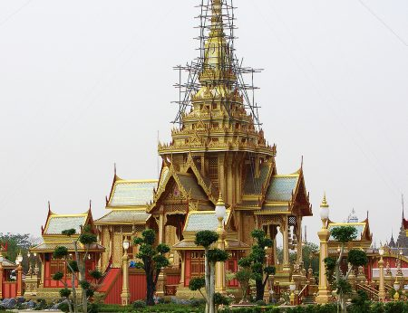 The Funeral Temple of Princess Bejaratana Rajasuda Sirisobhabannavadi, a first cousin of King Bhumibol Adulyadej of Thailand, took more than eight months to construct and King Bhumibol's is expected to take at least as long.
