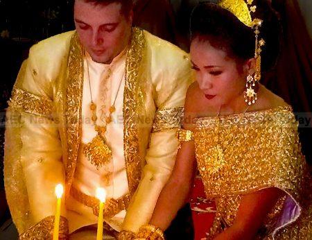 Pikthi Bong Vel Popil part of a Cambodia wedding