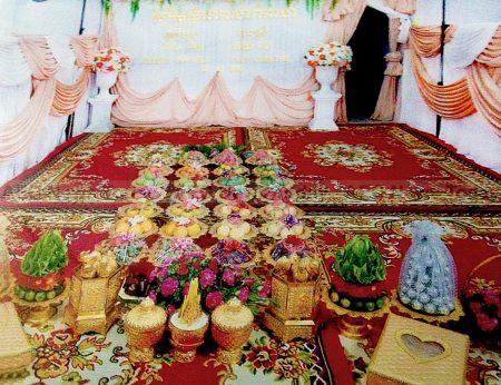 The Pikthi Hae Chom Noun part of a Cambodia wedding