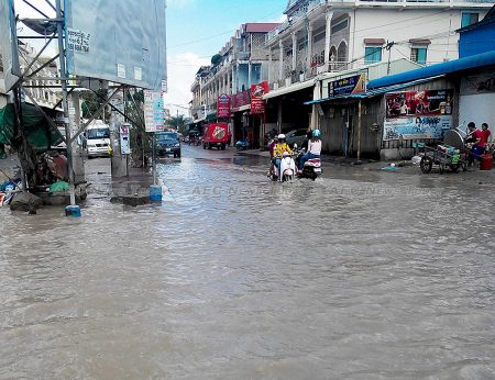 Poor drainage is just one of the infrastructure problems lacking adequate funding in Cambodia