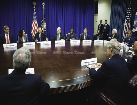 President Barack Obama and Agriculture Secretary Tom Vilsack explain the TPP to agriculture and business leaders at the US Department of Agriculture (USDA) on Tuesday, October 6, 2015