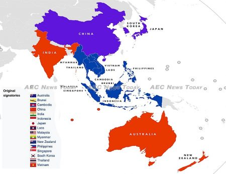 In 2016 the economies of the 16 original signatories of the Regional Comprehensive Economic Partnership (RCEP) accounted for approximately 30 percent of the world's GDP
