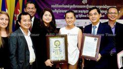 All smiles: Cambodia entrepreneurship push wins world record (HD video)