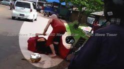Oh my Buddha: Myanmar Buddhist monks in roadside fisticuffs (video)