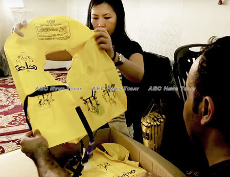 AirAsia life jackets are made from recycled material by refugees in Malaysia