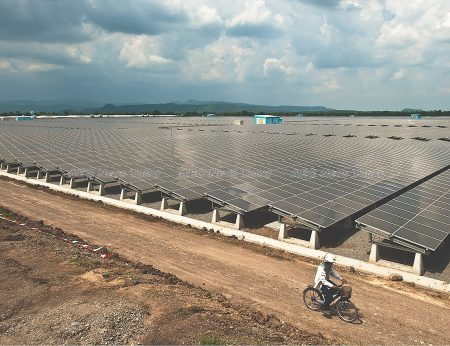 The 73-megawatt Lopburi Solar Farm is the largest solar photovoltaic project in the world.
