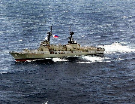 The BRP Gregorio del Pilar (PF15), flagship of the Philippine Navy in the West Philippine Sea in January 2012
