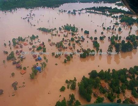 Xepian Xe Nam Noy Dam collapse triggered massive flooding that inundated the villages and towns downstream in more than 5 billion cubic meters of water