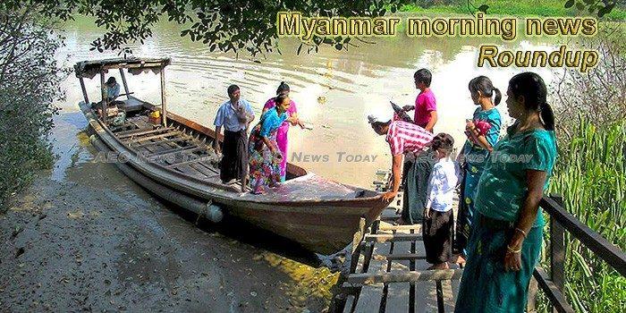 Myanmar morning news for August 2
