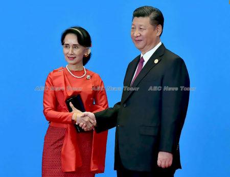 Aung San Suu Kyi meets China President Xi Xingping
