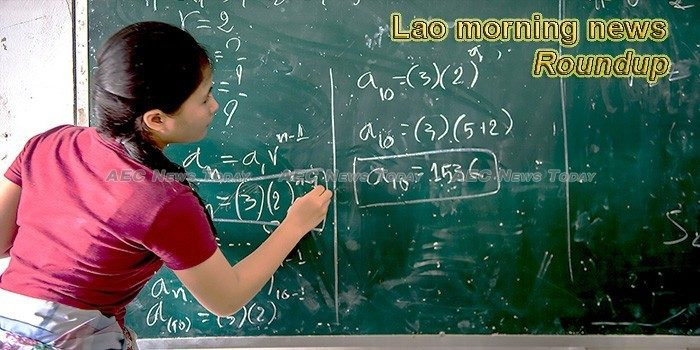 Lao morning news for October 2