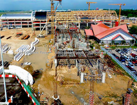 On May 2017, the Mactan-Cebu International Passenger Terminal Project in the Philippines was under construction progress.