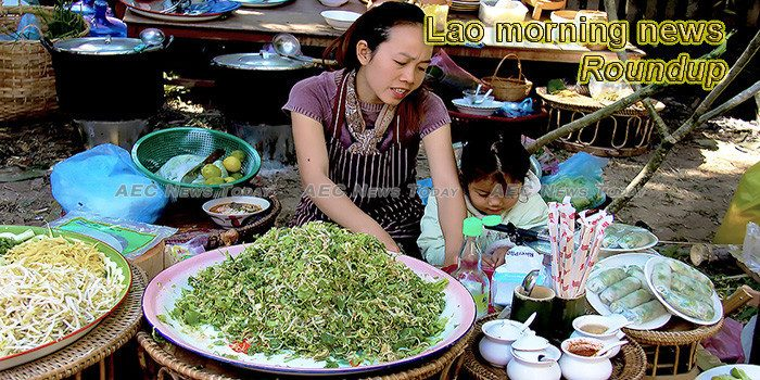 Lao morning news for January 14