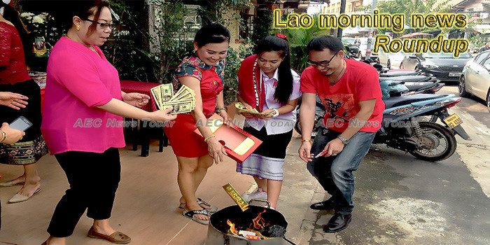 Lao morning news for February 6