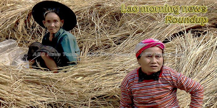 Lao morning news for February 18