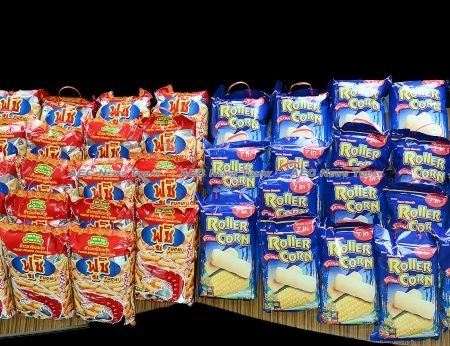 Snack products made in Thailand by Cambodian migrant workers
