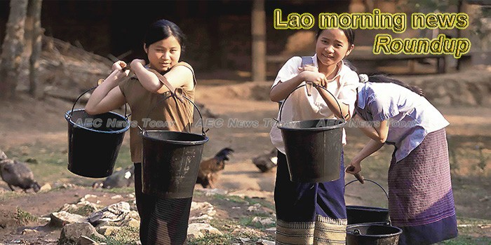 Lao morning news for April 12