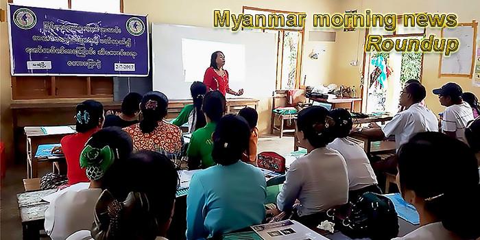 Myanmar morning news for April 1