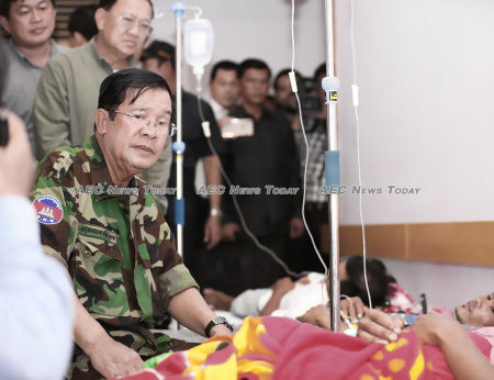 """Cambodia Prime Minister Hun Sen visits survivors: """"""""all illegal constructions from now on will have to be stopped"""""""