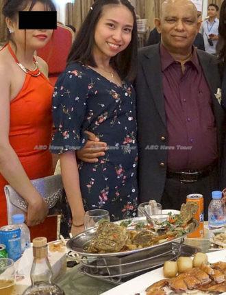 April Reposar with Mohan at th EU Ambassador to Cambodia's farewell
