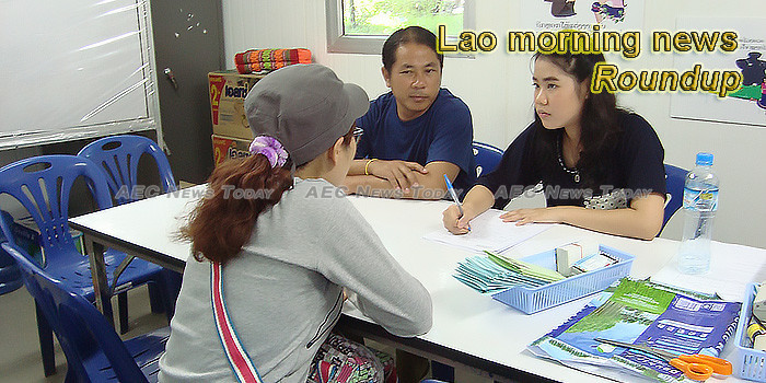 Lao morning news for July 30