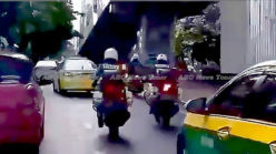 Thai police help deliver happy ending for expectant mum in Bangkok traffic (video)