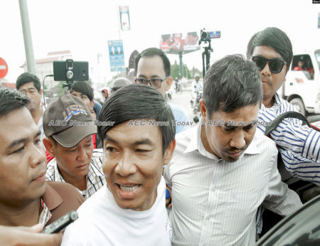 Former RFA journalist Uon Chhin (L) was arrested more than two months after RFA shuttered its Phnom Penh bureau & terminated staff employment contracts