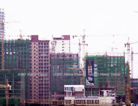 Boom! Tower cranes dot the Sihanoukville skyline