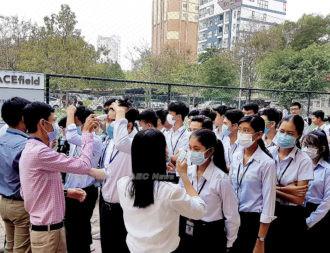 Cambodian students screened for coronavirus