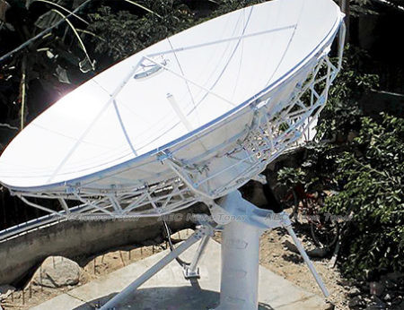 A 4.5m Kacific1 antenna installed in Timor-Leste