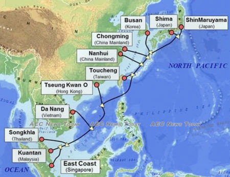 Asia Pacific Gateway Cable System Map
