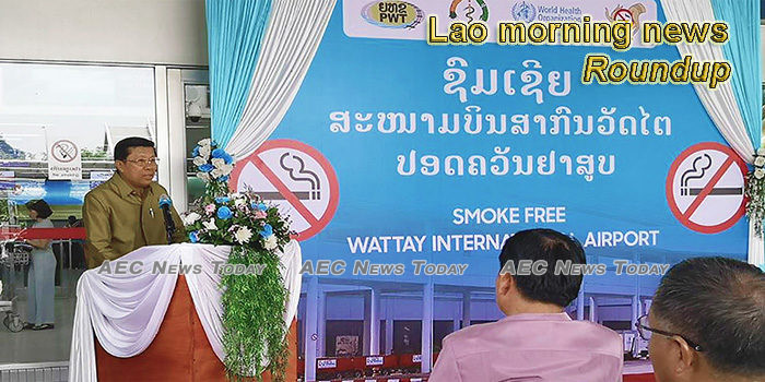 Lao morning news for May 25