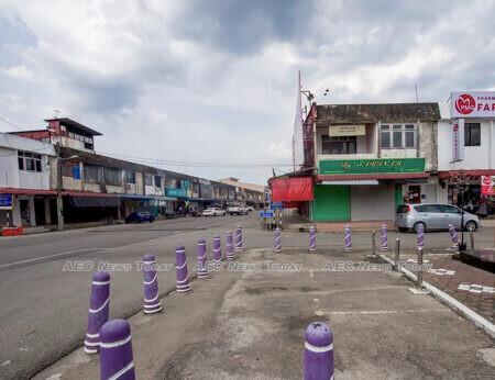 Rantau Panjang business district in the wake of MCO