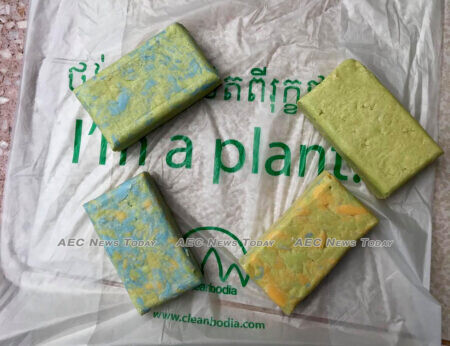 Locally recycled soap and locally produced environmentally friendly bags