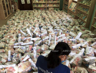 PLF 'army of love' prepare food parcels for delivery