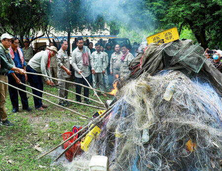 A host of snaring equipment incinerated by officials